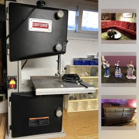 MaxSold Auction: This online auction features oak bedroom wall unit, dining room set, band saw, Lenox figurines, Tempur-pedic mattresses and much more!!