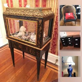 MaxSold Auction: This online auction features Decorative Plates, Foo Dogs, Akai Microphone, EdenPURE Heater, Bavaria Porcelain Tea Set, Asian Diptych, Cranberry Glass, Depression Glass, Gucci Watch, Vintage WWII Memorabilia, and Much, Much, More!!
