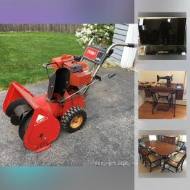 MaxSold Auction: This online auction features furniture, electronics, collectibles, white glassware, sewing supplies, kitchenware, small kitchen appliances, gardening tools, sofa sets, a variety of vintage items, tools and much more.