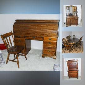 MaxSold Auction: This online auction features Smoker, Hedge Trimmers, Camping Gear, Hand Truck, Audio Equipment, Printers, Hand Weights, Bassett Furniture, Rolltop Desk, Area rugs, Small kitchen appliances, Canon A1 Camera, Stanley Buffet and much more!