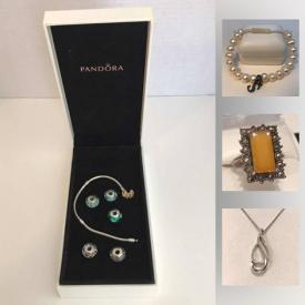 MaxSold Auction: This online auction features Art Glass, Pandora Gold Bracelet, Diamond Rings, Garnet Necklace, Turquoise Sterling Ring, Jade Grizzly Bear Carving, Swarovski Bracelets and much more!
