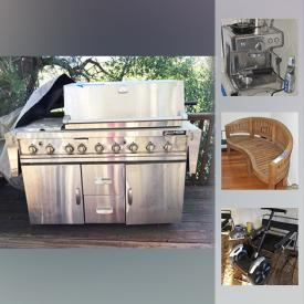 MaxSold Auction: This online auction features Wood bench, Roomba, Wood Cage, Toshiba TV, Media Cabinet, Panasonic Microwave, Breville Espresso Machine, Roku, Sony TV, Weber Grill and much more!