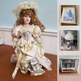 MaxSold Auction: This online auction features Toys & Games, Vintage Dolls, Wooden Statues, Carnival Glass. Crystal. Military Books. Original Art, Camping Gear, DVDs, Canon Printer, Cross country Skis, Pyrex and much more!