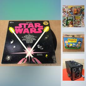 MaxSold Auction: This online auction features Comics Books, Star Wars Memorabilia, Magic Cards, Old Postcards, Anne Remmer Thompson Water colour, Teacups, Japan Tin Toys, Carded Diecast Cars, Vintage Rolling Stone Magazines, Vintage Books, Baseball Cards, Vintage G.I. Joe's and much more!