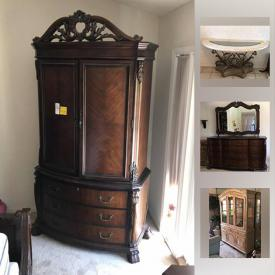 MaxSold Auction: This online auction features furniture, jewelry, decors, collectibles, clothing, Painted Decanter And Cordial Glass Sets, Broaches, Eyeglasses And Eyeglass Holders, Wedding Dress, laundry and cleaning items, garage items and much more.