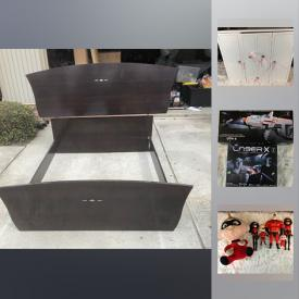 MaxSold Auction: This online auction features Toys; art / office /craft supplies; home goods such as comforters, curtains and sofa covers; Roku 2 and Xbox Kinect, games; Our Generation wooden wardrobe and queen bed frame with headboard and more!