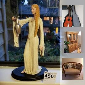 MaxSold Auction: This online auction features Corningware, Small Kitchen Appliances, Nespresso, Freezer, Metal Art, Blue delft dishes, art Glass, Camping Items, Sports Equipment, Toshiba TV, Board Games, Power Tools, Vintage Lionel Train Set, Ibanez Guitar, PC Games, Lord of the Rings Sculpture, Exercise Bike, R2D2 Lego NIB and more!