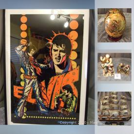 MaxSold Auction: This online auction features Wade Figurines, Vintage Toys, Sports Cards, Vintage Mirrors and Brushes, Chinese Cork Art, Precious Moments, Collector Plates, Small Kitchen Appliance, Books and much more!