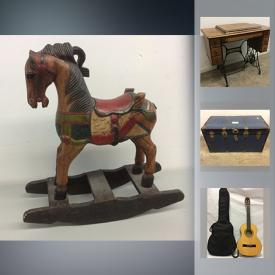MaxSold Auction: This online auction features Singer Sewing Cabinet, Heated Towel Rack, Wooden Rocking Horse, CycleOps Indoor Bicycle Trainer, Danby Silhouette Dehumidifier, $100 1976 Canadian Olympic Gold Coin- 14KT, Mikasa Crystal Ware, Beaver Creek Kids Guitar, Gorilla carts Wheeled Cart, Cafe Roma Cappuccino Machine and much more!