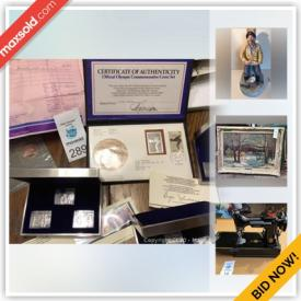MaxSold Auction: This online auction features Robert Bateman prints, Canadian currency, coin sets, vintage jewelry, Swarovski and much more!