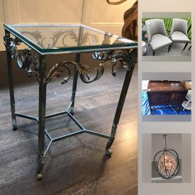 MaxSold Auction: This online auction features furniture, artworks, decors, collectibles, silver plate, electric wall sconces, toys, Sky runner Adult Kangaroo Jumping Stilts, Nespresso Coffee Maker, Yamaha Saxophone and much more.
