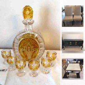 MaxSold Auction: This online auction features decors, figurines, glassware and collectibles such as sterling serving pieces, Mont Blanc Pen, Lenox Figurines, Art Glass, Moorcroft Pottery, Pink Hobnail Glass, Jonathan Adler Desk, Eames Desk Chair, Bernhardt Maple Buffet, Miniature Decorative Shoes, Bols Decanters and much more!