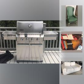 MaxSold Auction: This online auction features artworks, furniture, cameras, HP Printer, Bbq Grill, Tobacco Pipes, Kitchenwares, mirror, Hollywood Lamps, Autoharp, Espresso, MCM Carpet, patio, industrial shelving, Fire Extinguisher, speaker, toys, DVD player, vacuum, vases, BMW Rims, Tires and much more.