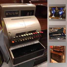 MaxSold Auction: This online auction features artworks, furniture, collectibles, decor, Cameras, Ibanez Guitar, Urns, Mirror, clock, planter, Cash Register, Fender Amplifier, Sewing Machine, China Cabinets, Spanish Encyclopedia, Silver Plate, Terra Cotta Jar, lamps, books, lp records and much more.
