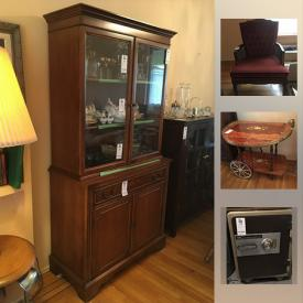 MaxSold Auction: This online auction features costume jewelry, artworks, furniture, decor, figurine, lamps, fans, glassware, chinaware, Royal Doulton, kitchen wares, books, Safe On Wheels, Chipper, Sewing and Ironing, vacuum, tools,  Neutron Lawnmower, and much more.