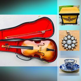 MaxSold Auction: This online auction features jewelry, tools, glass bookshelf, household items, decor, vintage wine barrel stand, antique book, fountain pen, coins, spoons, office chair, wicker weave basket, brass lion head door knocker and much more!