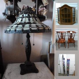 MaxSold Auction: This online auction features new baby items, stained glass lamps, costume jewelry, display cases, art pottery, games, glass art, snow babies figurine, Dept. 56 Heritage collection, skis, antique vanity items and much more!