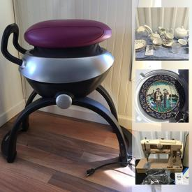 MaxSold Auction: This online auction features fabrics, MCM lamp, books, exerciser, collectible plates, seasonal decor such as a Christmas village, nutcrackers, Dept 56, vintage kitchen items, Asian decor, projector, sewing machines and much more!