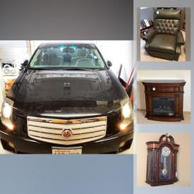 MaxSold Auction: This online auction features 2007 Black Cadillac, furniture such as wooden dining table, wooden hutch, vintage bench seat, and leather-like recliner, small appliances such as Panasonic microwave, Nespresso coffee maker and Sharp microwave, electronics such as Panasonic TV, Sony entertainment robots, Bose headphones, Brother copier and printer, and electric heater mantel, Bissell pet carpet cleaner, Dyson vacuums, kitchenware, glassware, DVDs, purses, men's and women's clothing, table lamps, vintage cameras, Meade ETC telescope, Christmas decor, live outdoor plants, tools such as DeWalt drill, circular saw, and WORX leaf blower and much more!