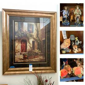 MaxSold Auction: This online auction features framed art, figurines and collectibles, curio cabinet, DVDs, Nintendo and Wii games, beanie babies, barbies, three stooges dolls, cookware, linens, Homer laughlin dinnerware, lamps, walker, Christmas decor, garden supplies and much more!