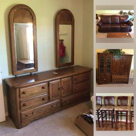 MaxSold Auction: This online auction features wood nightstands, tv cabinet, low bar stools, vacuums, bathroom items, health aids, bed, bookcases, office items, desk, decor, seasonal decor, patio furniture, leather sofa, tall brass copper scale, clothing, small kitchen appliances, bread makers, dinnerware, serving ware, tools such as a router, toolboxes, craft items, luggage, yard care items, fishing items and much more!
