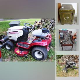 MaxSold Auction: This online auction features toys, Roll Top desk, foosball table, golf clubs, drill press, ice fishing gear, fish finder, power tools, bar fridge, camping gear, Stihl weed trimmer, Leigh dovetail jig, sailboat accessories, riding lawnmower, small kitchen appliances, Wii collection, pine high boy, christening gowns, collectors plates, strangle pottery and much more!