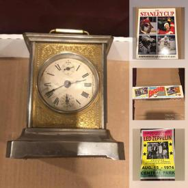 MaxSold Auction: This online auction features collectibles, antique items, decors, jewelry, Marantz stereo, German Carriage clock, toys, Labatt's blue mini Stanley cups, books, posters, manuals and much more.