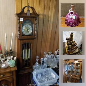 MaxSold Auction: This online auction features indigenous art, board games, Casio keyboard, microscopes, Royal Doulton figurines, Capodimonte, vintage toy tea set, small kitchen appliances, broil king BBQ, Grandfather clock and much more!