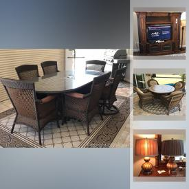 MaxSold Auction: This online auction features Agio Lanai table, Weber genesis grill, Aquas TVs, Havertys furniture, small kitchen appliances, sewing machine, cleaning supplies, wall art, lamps and much more!