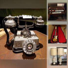 MaxSold Auction: This online auction features antique record player, musical instruments, steamer trunks, vintage clothes, power tools, camping gear, mink coats, bicycles, small kitchen appliances, aquarium, electric fireplace, mobility walkers, costume jewelry, coins, board games, vintage toys and much more!
