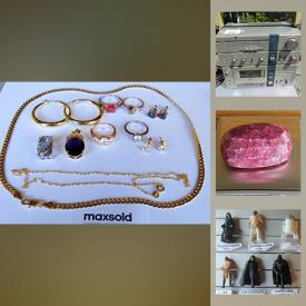 MaxSold Auction: This online auction features vintage jewelry, vintage books, teacups, vintage M&M collectibles, vintage star wars figures, gems, hiking backpacks, vintage collector cards, sports equipment and much more!