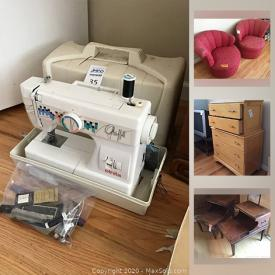 MaxSold Auction: This online auction features vintage clothing, sewing machine, vintage games, teacups, vintage Columbia Grafonola cabinet, Pfaltzgraff dishes, antique high chair, costume jewelry, vintage books, small kitchen appliances, Rose glass dishes, vintage toys and much more!