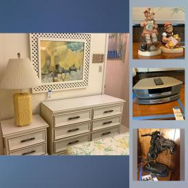 MaxSold Auction: This online auction features recliners, vintage wedding gown, Calphalon pots, hand-painted oriental 4 panel wall hanging, teacups, area rugs, French Tapestry, Hummel figurines, Frederic Remington bronze sculptures, HP printer, suits, games and much more!