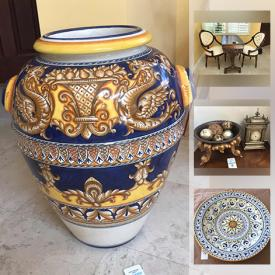 MaxSold Auction: This online auction features designer furniture, Castilian vase, Lorenzaccio Firenze collection, all-clad pans, Espresso machine, hanging decorative platter, ceramic rooters, Sony TVs, cowhide wingback chairs, Lava stone tables, mountain bikes, ladders, tools and much more!