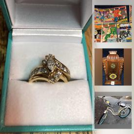 MaxSold Auction: This online auction features Ladies diamond ring, costume jewelry, vintage cookie jars, stereo components, fishing gear, drones, Joe Wilson tribal prints, vintage Native American items, original Steinbach Nutcrackers, African American dolls, dollhouse accessories, transformer toys, bikes, half grain of gold, comics and much more!