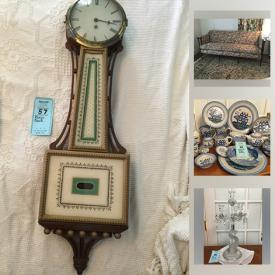 MaxSold Auction: This online auction features China sets, glassware, cut crystal, pottery, vintage kitchenware and furniture, vintage polaroid camera, art and decor including paints, prints, lamps, vases and figurines, antique books, rugs and much more!