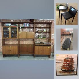 MaxSold Auction: This online auction features model cars, treadmill, wooden figures, interior wooden doors, Humidifier, unique decor, pottery, golf set, air purifier, Ann Kloppenburg paintings, board games, printer, teacups, garden supplies, patio table & chairs and much more!