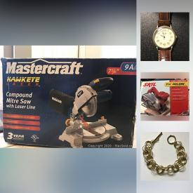 MaxSold Auction: This online auction features power tools, Royal Doulton figurine, Wedgwood fine china, large format artwork, small kitchen appliances, portable air conditioner, golf clubs, ski boots, vintage pennants, costume jewellery, hand truck and much more!