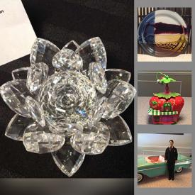 MaxSold Auction: This online auction features Swarovski crystal figurines, vintage pearl necklace, sterling silver jewelry, Wilton pottery plates, fairy garden houses, board games, Pendelfin figurines, Willow tree figurines, depression glass, children's books, Audrey Hepburn memorabilia and much more!