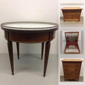 MaxSold Auction: This online auction features single sofa bed, trouser press, stone carvings, birks sterling silver, power tools, original artwork, antique furniture, vintage games, TV and much more!