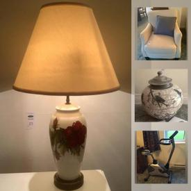 MaxSold Auction: This online auction features Moorcroft lamps, Tiffany-style lamp, Bose Surround sound system, original art, Jack Olive Raven Raku pot, Peter price pottery, costume jewelry, exercise bike, art & office supplies and much more!