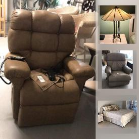MaxSold Auction: This online auction features Henry link wicker bedroom furniture, Samsung TV, lazy boy recliner, stone top table, puzzles & games, patio furniture, beach decor, Tiffany-style lamp, small kitchen appliances, golden lift chair, pressure washer and much more!