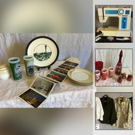 MaxSold Auction: This online auction features designer women's clothing, vintage & artisan jewelry, sewing & craft supplies, vintage red glass, blue willow china, classic & vintage patterns, chicken coop supplies, electric heater, ultimate shield SUV cover and much more!