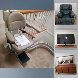 MaxSold Auction: This online auction features TVs, MCM furniture, stairlift, chest freezer, power tools, pressure washer, collectible spoons & plates, rose glass, Fenton vases, small kitchen appliances, exercise bike, area rugs, vintage fur coat and much more!