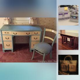MaxSold Auction: This online auction features tools, boat tools, camping gear, air compressor, chest freezer, generator, art pottery, exercise equipment, video game system, board games, crocks, small kitchen appliances, sewing machine, Stangl pottery, stereo components and much more!