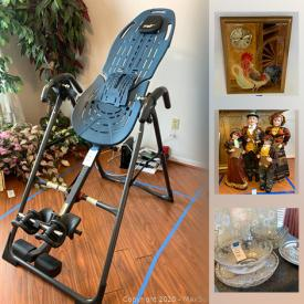 MaxSold Auction: This online auction features small kitchen appliances, teacups, power & hand tools, pet supplies, arts & crafts supplies, Christmas village houses, NIB headphones, inversion tables, vintage quilts, cleaning products and much more!
