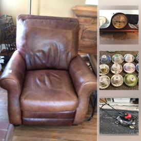 MaxSold Auction: This online auction features miniature tea sets, Wedgwood China, teacups, leather recliners, Barrister bookcase, electric fireplace, African art, small kitchen appliances, skis, snowboard, lawnmower and much more!