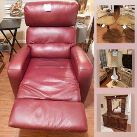 MaxSold Auction: This online auction features vintage wingback chair, bunk beds, ladies coats, HP printer, vintage jewelry, antique buffet cabinet, TV, washer & dryer, small kitchen appliances, hospital bed and much more!
