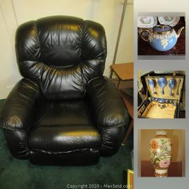 MaxSold Auction: This online auction features vintage electronic handheld games, Amber glass decanters, antique enameled trinket boxes, Copeland Spode China, TV, LA-Z-Boy power lift recliner, antique Gerhard Heintzman piano, vintage mantle clocks, antique riding crops, Tools, fridge/freezer and much more!