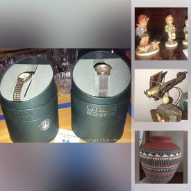 MaxSold Auction: This online auction features Hummels, Lenox Pieces, metal wall sculpture, trinket boxes, citizen eco-drive watches, small kitchen appliances, costume jewelry, flatscreen TV, American Indian reproduction pottery, Yankees world series jacket, Wedgewood Jasperware, Cuckoo clock and much more!